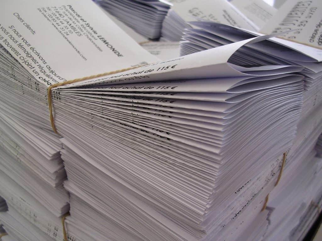 דפים מודפסים