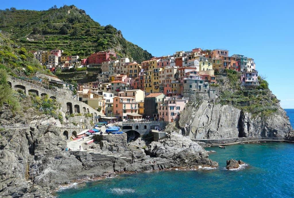 בתים על הר באיטליה